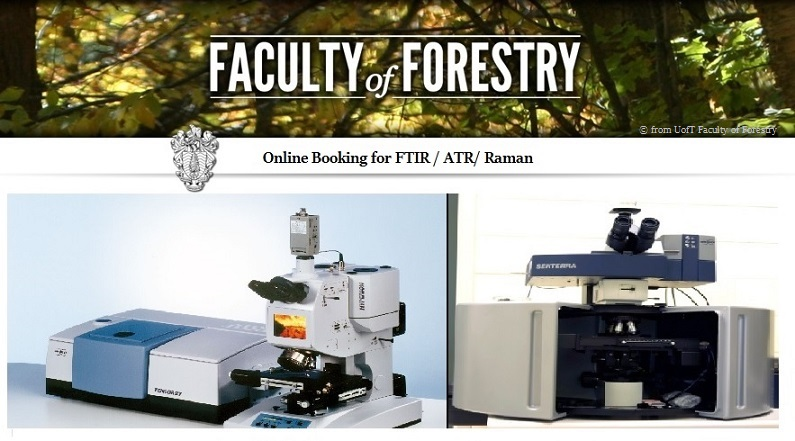 Booking for FTIR/ ATR/ Raman